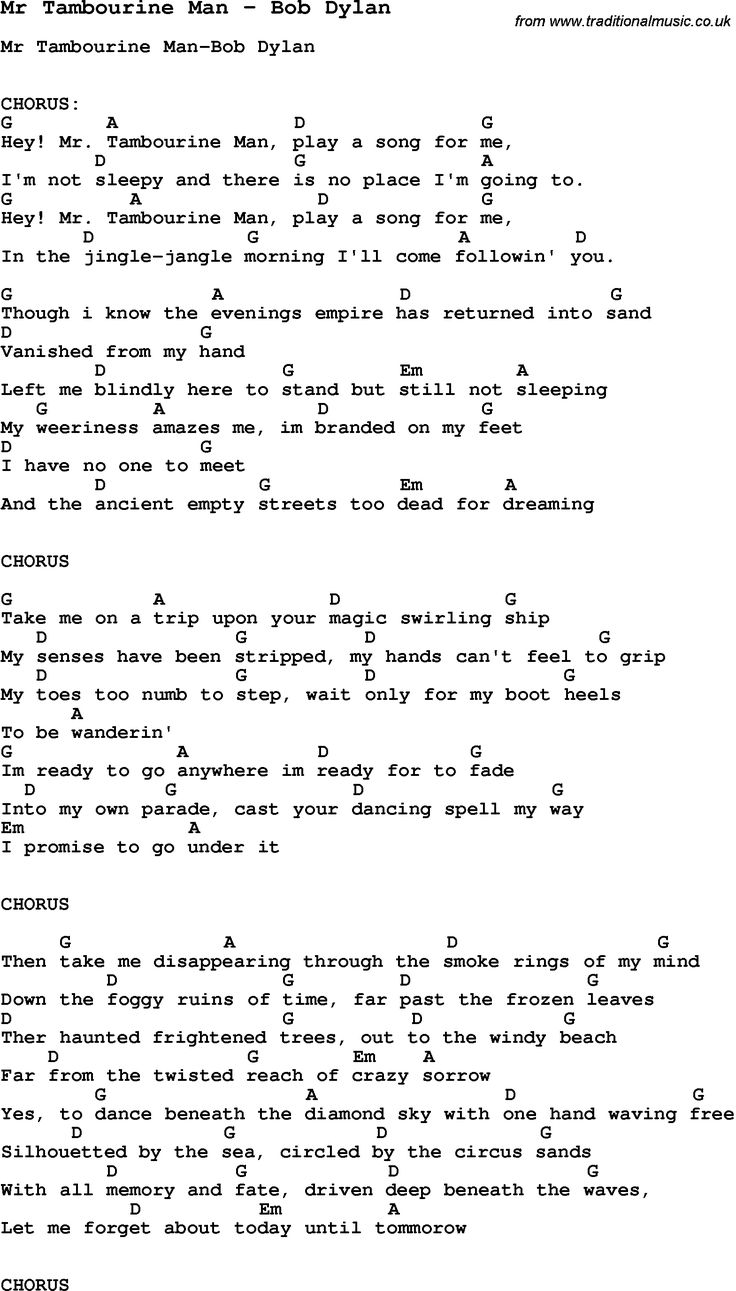 Best 25 guitar chords and lyrics ideas on pinterest guitar song mr tambourine man by bob dylan song lyric for vocal performance plus accompaniment chords for ukulele guitar banjo etc hexwebz Gallery