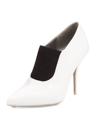 Natasha Stretch-Front Calfskin Bootie by Alexander Wang at Neiman Marcus.