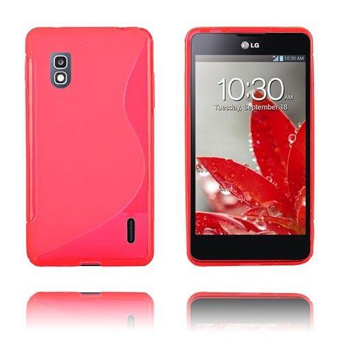 S-Line (Punainen) LG Optimus G E975 Suojakuori