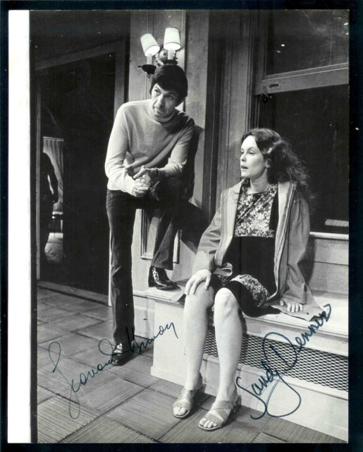 Sandy Dennis with Leonard Nimoy
