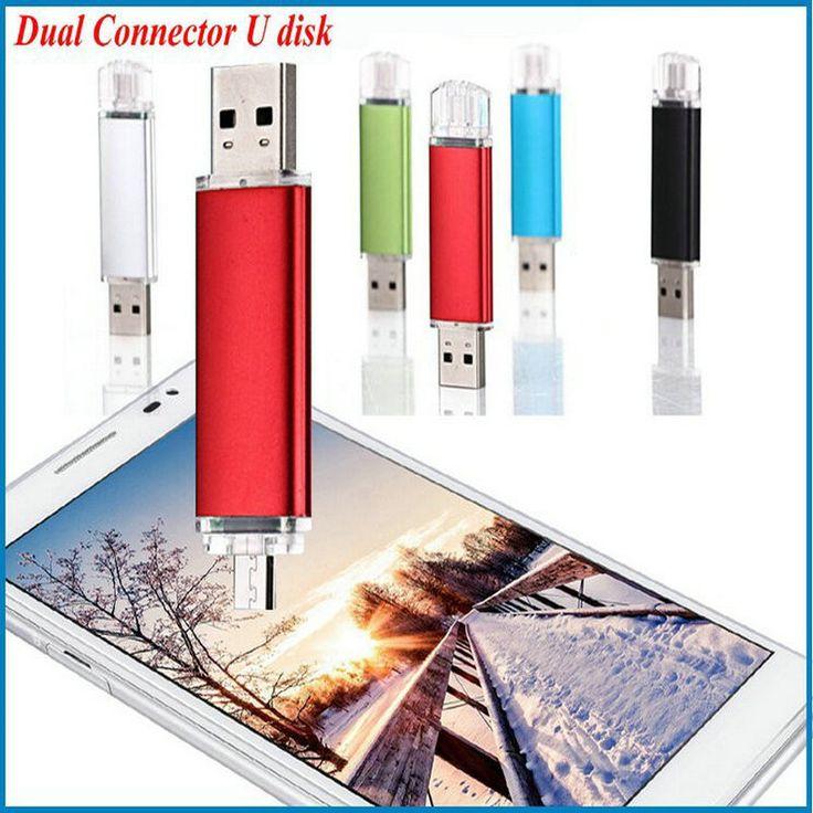 Honest business !  Dual Connector USB stick 128GB 2G 4GB 8GB 16GB 32GB 64GB Pen Drive Gift USB Flash Disk USB flash drive
