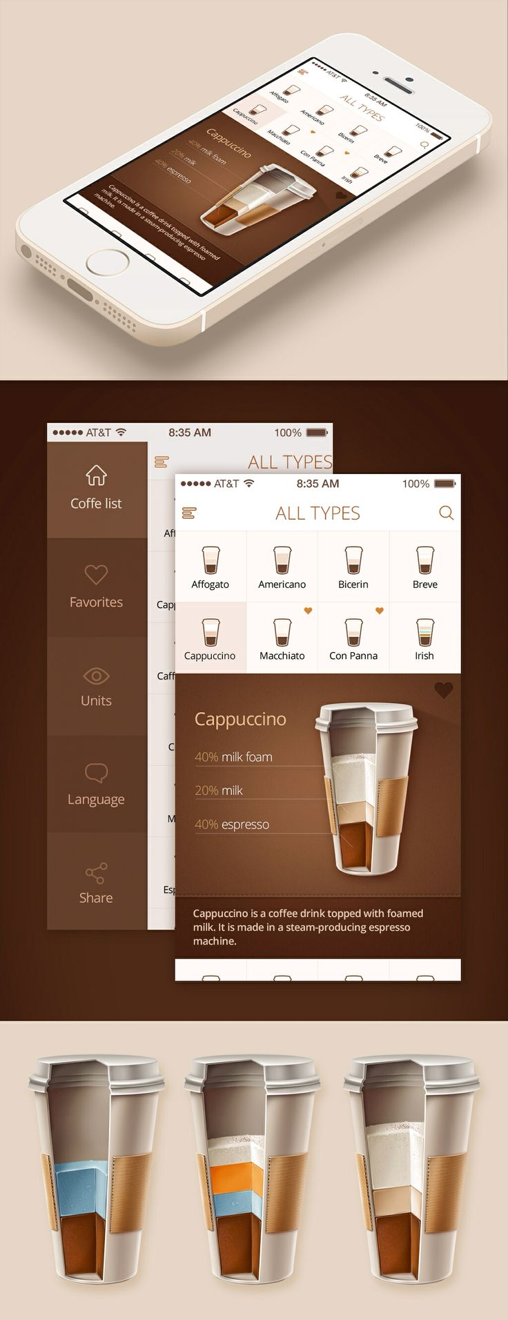 Coffee - by Ink Ration | #ui