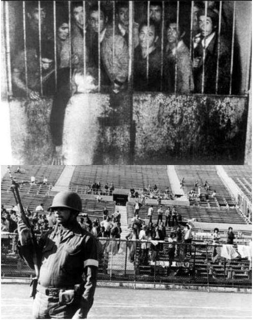 12 y 13 de Septiembre de 1973. Se habilita el estadio nacional y posiciona como el centro de detención más grande de la región metropolitana. Los detenidos eran sometidos a intensos interrogatorios y a la práctica de torturas.