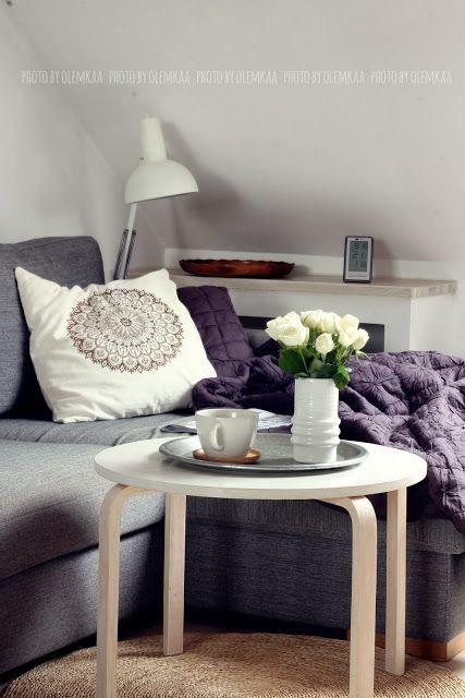 Living room. Madam Stoltz. Morrocan cushion.