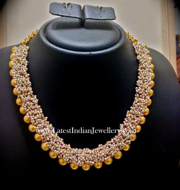 Basra Pearls Fancy Gold Necklace