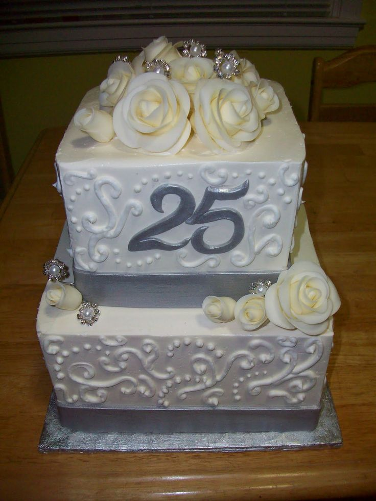 Pictures of Happy Anniversary Cakes My parents 25th ...