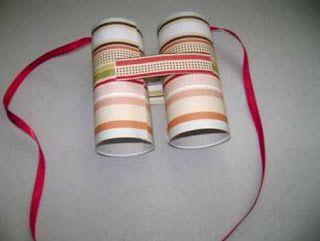 Prismáticos de rollos de cartón