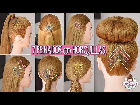 bc30ec484 7 PEINADOS FACILES con HORQUILLAS | PASADORES | GANCHOS de PELO para NIÑAS  - YouTube