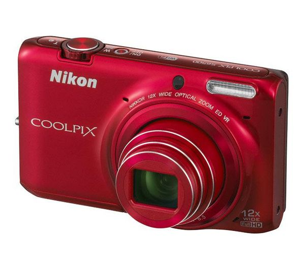 NIKON Coolpix S6500 Advanced Compact Digital Camera – Red for £89.98 @ PC World