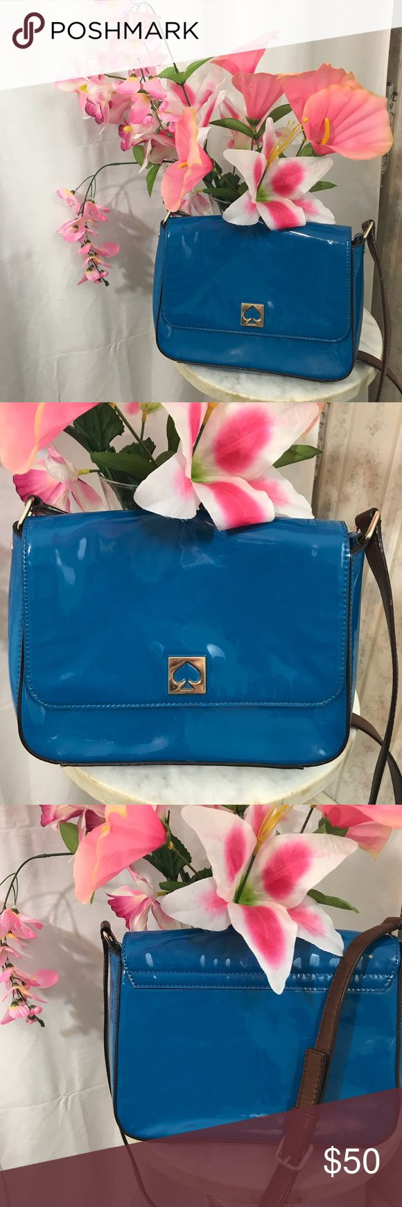 "Vintage Kate Spade Blue Purse Approximately 7.5 X 10"" kate spade Bags Crossbody Bags"