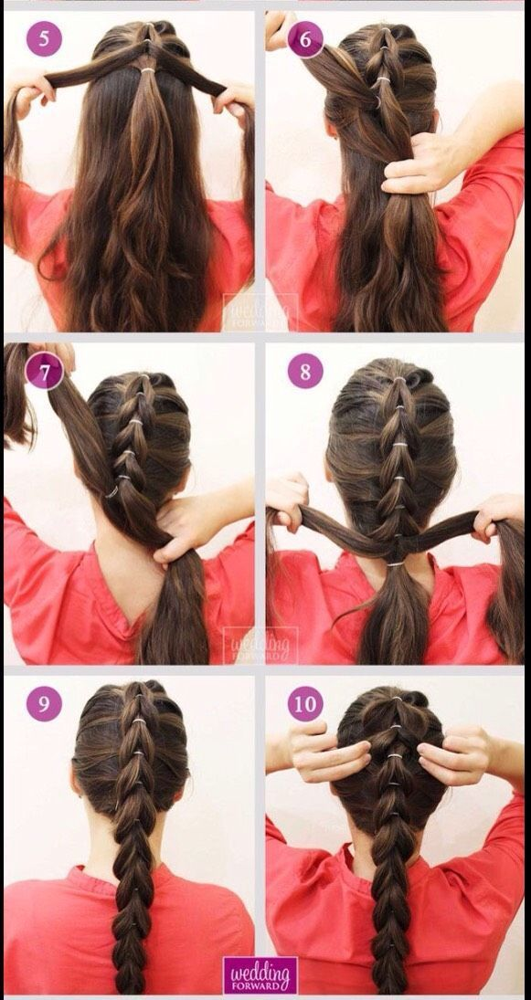 Pull Through Braid Tutorial für braunes Haar - #Braid #brown #Hair #pull #tutorial