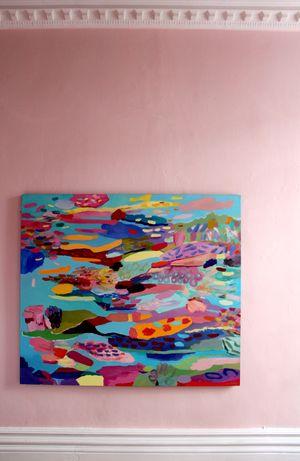 Cathy Layzell | 'Polynesia' | Oil on Canvas | 150 x 131 cm | Sold