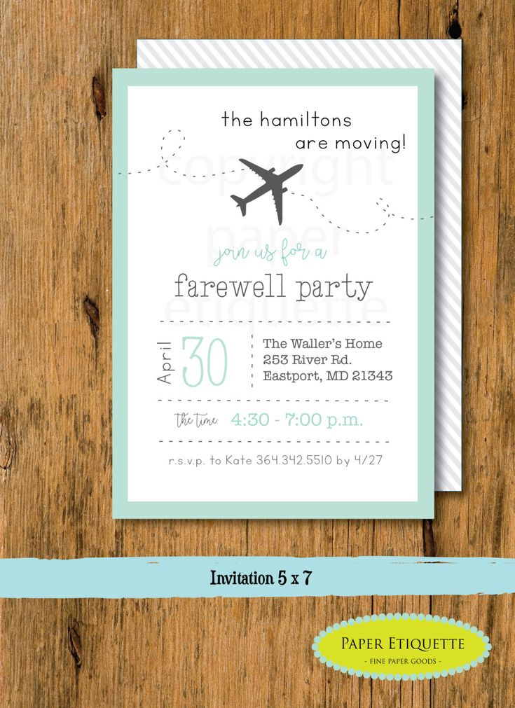best 25+ going away party invitations ideas on pinterest | moving, Party invitations