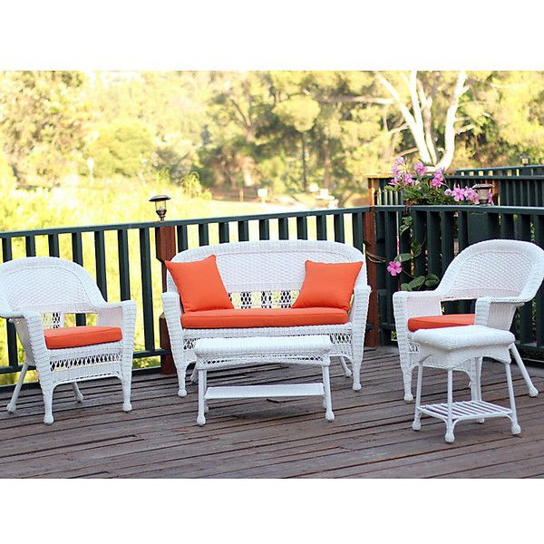 hampton hill 5 piece resin wicker patio setwhite nok liked - Resin Wicker Patio Furniture