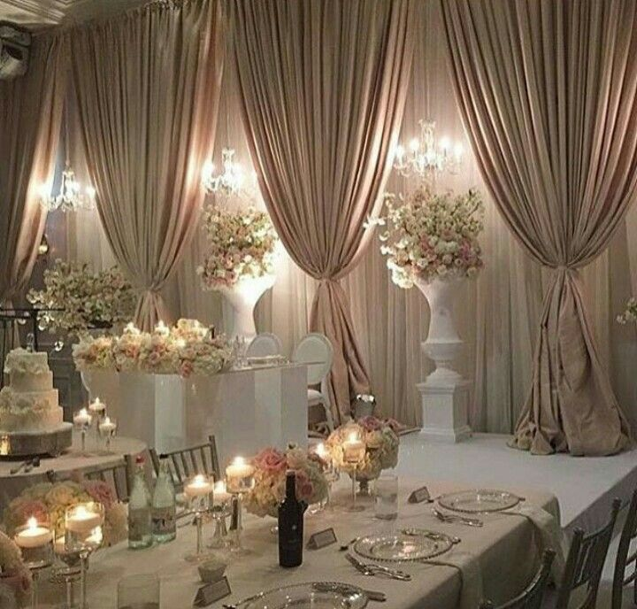 Wedding Reception Head Table Ideas: 265 Best EVENT DRAPES Images On Pinterest