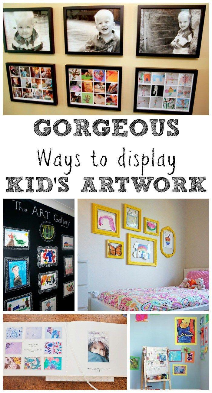 Gorgeous Ways to Display Kids Art Work - In The Playroom