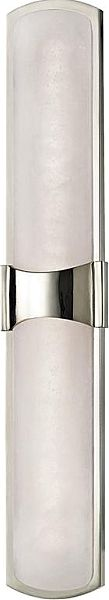Hudson Valley Valencia 26 inch 2-Light LED Wall Sconce in Polished Nickel