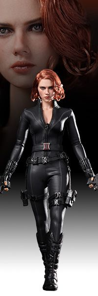 Black Widow Sixth Scale Figure - The Avengers $189.99 while supplies last!    Sideshow Collectibles and Hot Toys are proud to present the Black Widow Sixth Scale Limited Edition Collectible Figure from the smash hit The Avengers. The movie-accurate Black Widow collectible is specially crafted based on the image of Scarlett Johansson in the movie; highlighting the newly sculpted head, hair implantation, body shape, and highly detailed costume and accessories.  (Click on picture/link for…