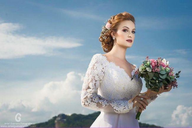 Penteados de noiva 2017: para todos os estilos e todos eles LINDOS! Image: 49