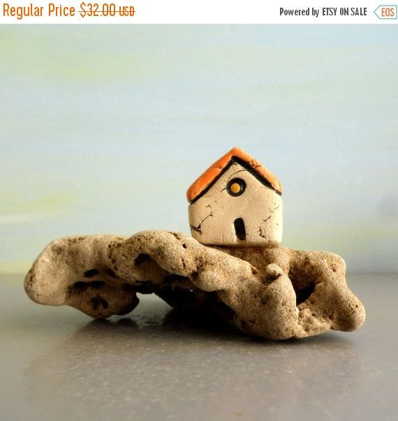 Holidays sale Little sculpture of a miniature ceramic by ednapio