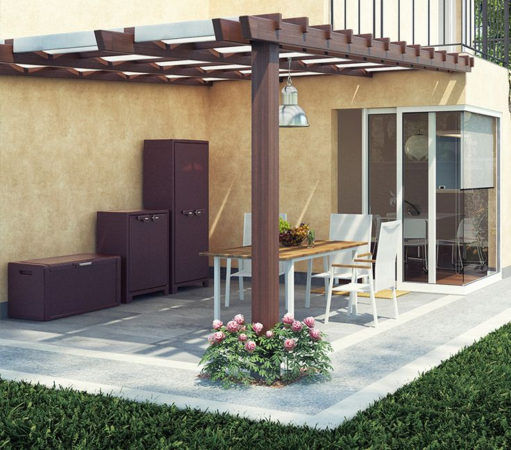 TITAN Armadi impermeabili per balcone, arredo giardino