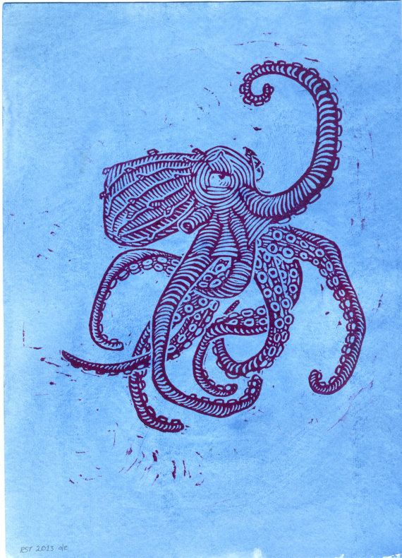 Hey, I found this really awesome Etsy listing at http://www.etsy.com/listing/121243383/octopus-print-hand-pressed-lino-cut-with