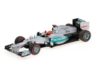 Minichamps 1:43 Mercedes Petronas W03 Diecast Model Car 410120107 This Mercedes Petronas W03 (Michael Schumacher - Pole Position Monaco GP 2012) Diecast Model Car is Silver and has working wheels and also comes in a display case. It is made by Minichamps and is 1:43 scale (approx. 10cm / 3.9in long). #Minichamps #ModelCar #MercedesPetronas