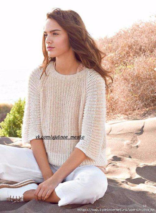 уютное место вязание спицылетние модели Crochet Clothes