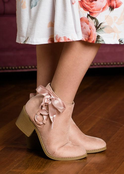 Mauve Ribbon Detailed Booties, Booties, Girls Booties, Zipper Boots, Online Shopping, online boutique, girls boutique, boutique, fashion, Ryleigh Rue Clothing, OOTD, Style