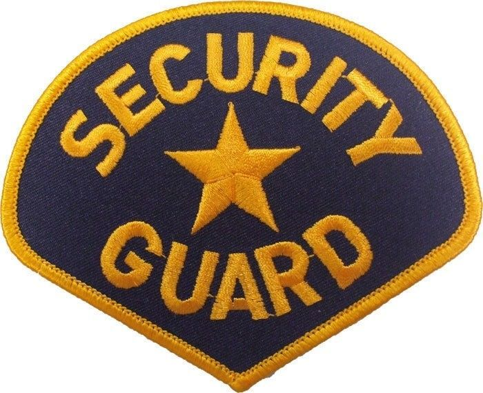"""Security Guard Star Embroidered Shoulder Patch 3.75"""" x 4.25"""" #Rothco   Army  navy store, Rothco, Security officer"""