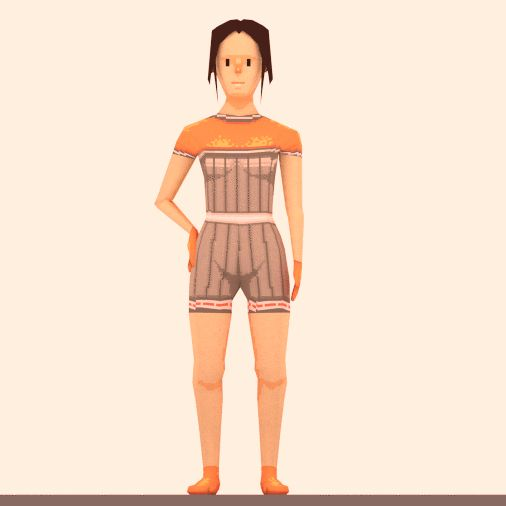 First set of female clothes for character customization.