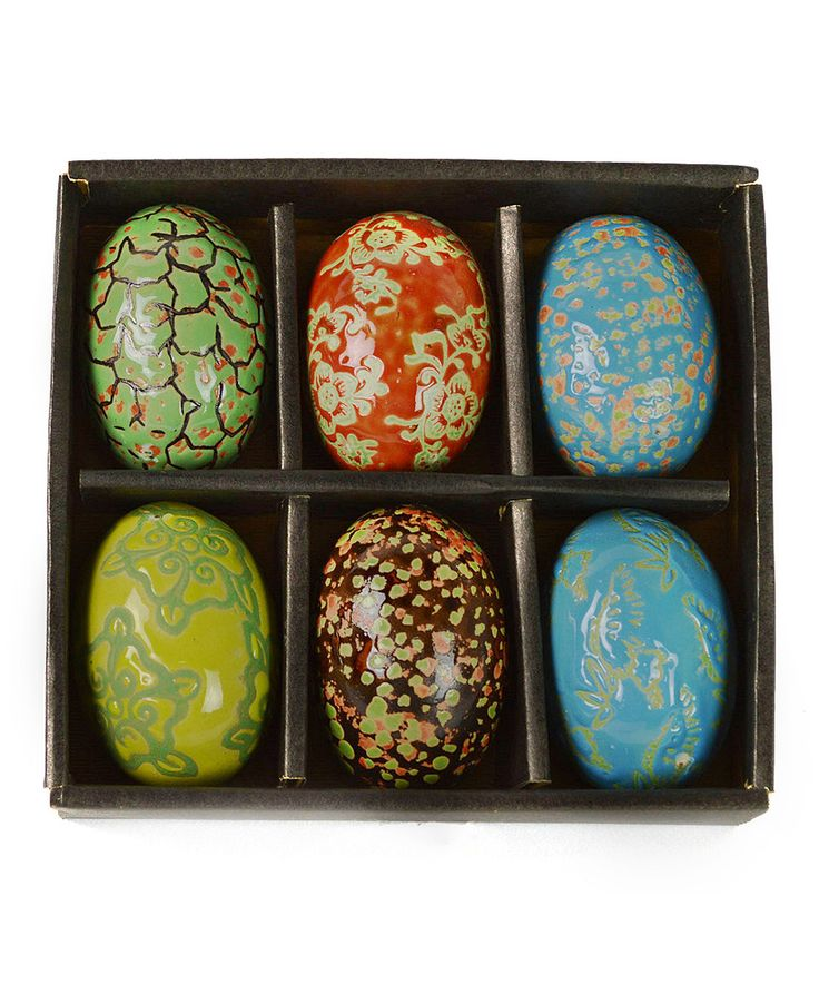 This Painted Egg Decor Set By Galt International Is Perfect Zulilyfinds Egg Painting Favorite Holiday Decor