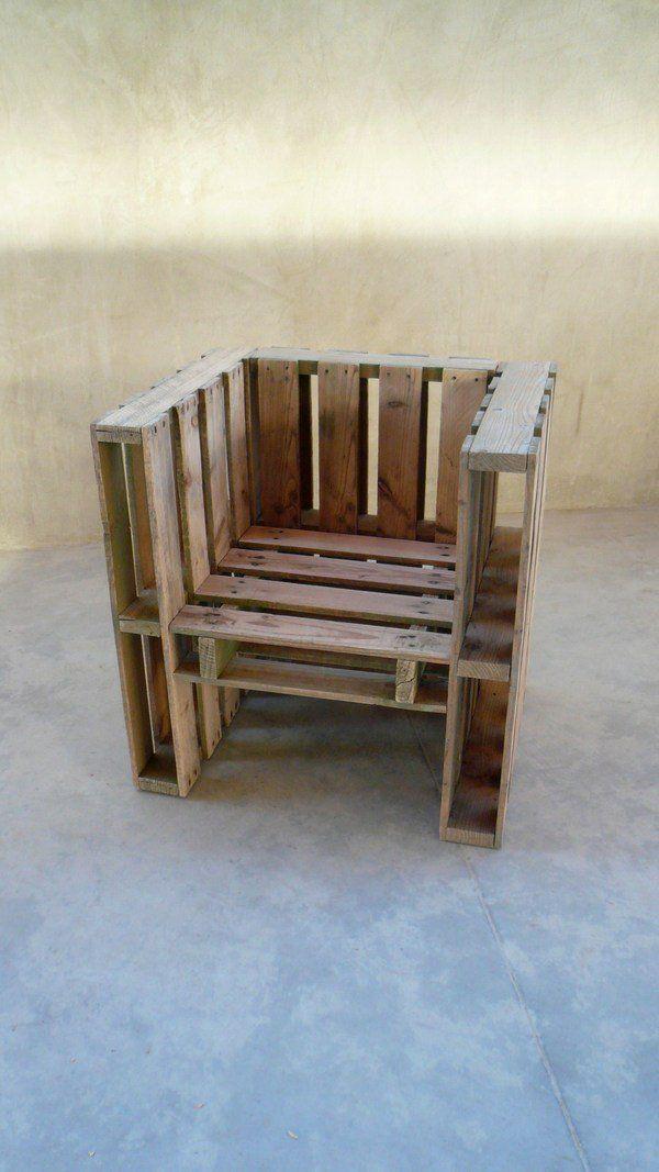 Möbel Aus Europaletten Viereckiger Sessel
