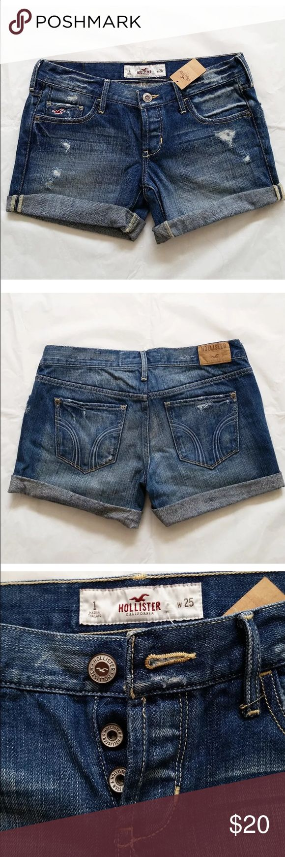 Hollister Shorts   Low Rise Sz 1 (W25) Brand new, only handled, never worn! Hollister Shorts Jean Shorts