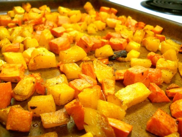 Roasted Butternut Squash and Sweet Potato | My Vegan Sister ...