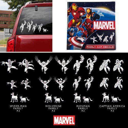 Marvel Superhero Family Car Decals 50 Decals Marvel http://www.amazon.