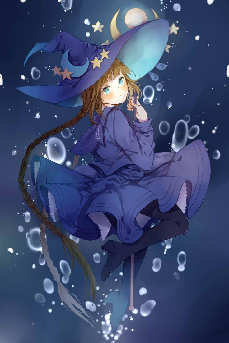 Cute Sad Little Girl Wallpaper Anime Witch Loli Girl Character Illusts 만화 캐릭터
