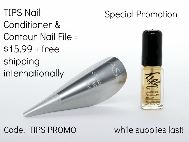 An amazing offer on 2 great products for your nails.  TIPS Nail Conditioner will help get your talons back into a natural, healthy, strong state.  The file will seal the ends to promote longer, stronger growth.  #nails, #tips, #files, #beauty, #cosmetics.  www.askcosmetics.com