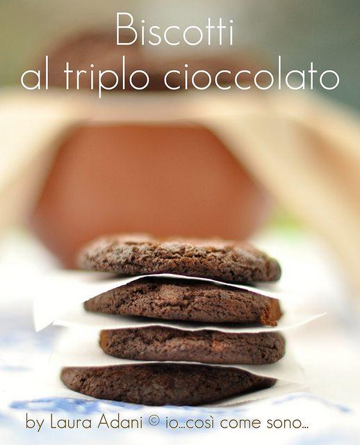 biscotti al triplo cioccolato