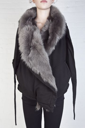 I went to Reborn today and tried on this DRKSHDW fur hoodie. By far the most amazing garment Ive ever had on my body. The pricetag is half a years worth of rent, but a girl can dream..