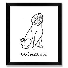 image of Pug Framed Wall Art