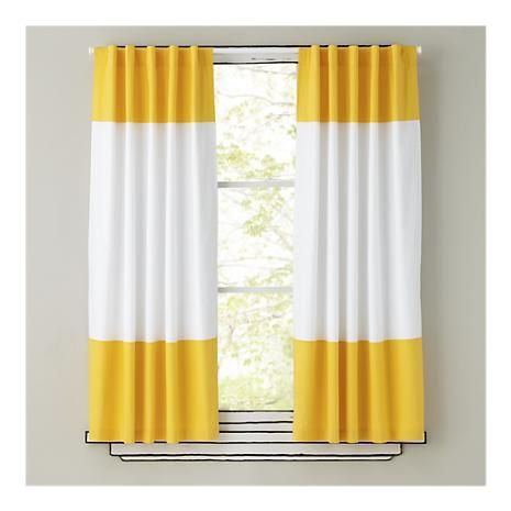 Color Edge Yellow Curtain Panel