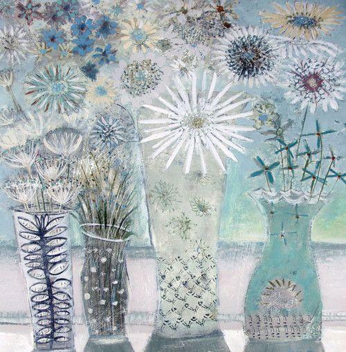 'Hannah's Flowers' By Painter Hannah Hann. Blank Art Cards By Green Pebble. www.greenpebble.co.uk