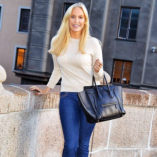 @petratungarden is in love with our basic cashmere sweater. She looks absolutely amazing. Simple jet sophisticated and elegant look.  #davidacashmere #petratungarden #metromode #fashion #cashmere #style #stockholm #happy