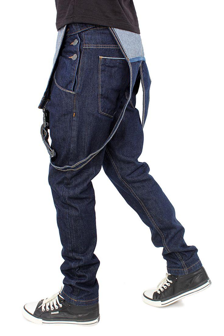 Rebel Ape indigo dungarees for men - slimfit #dungarees #overalls #backtocollege