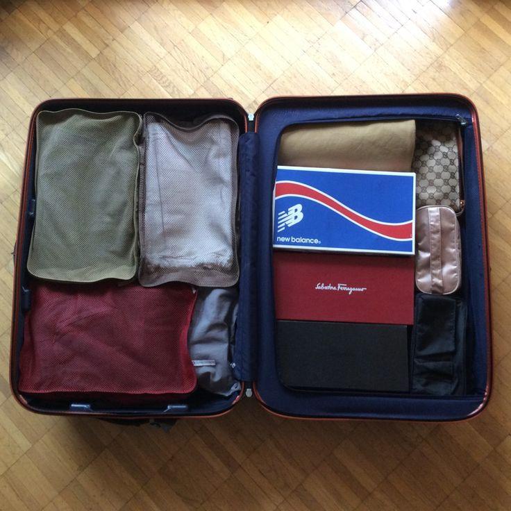 靴箱でモジュール化?海外旅行スーツケースのパッキング術。 - SABAすたいる