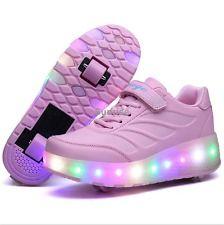 Luz LED fresco Niños Niñas Niños Zapatillas Con Ruedas Patines Zapatos X4