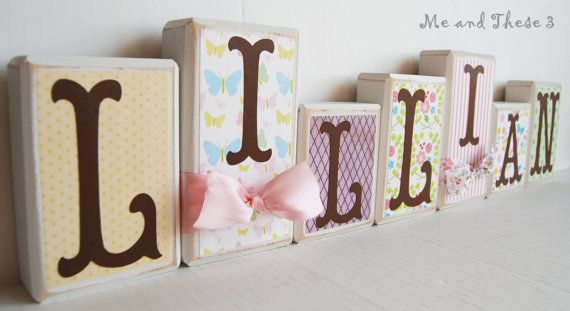 Wood letter name blocks  Price is per block  Custom by meandthese3, $8.00