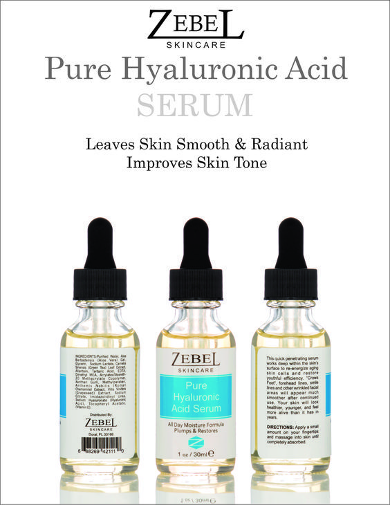 "Pure Hyaluronic Acid Serum works deep within the skin's surface to re-energize aging skin cells and restore youthful efficiency. ""Crows Feet"", forehead lines, smile lines and other wrinkled facial areas will appear much smoother after continued use. Your skin will look healthier, younger, and feel more alive than it has in years. #antiaging, #antiwrinkle, #skincare, #youthfulness. #skincare, #skintreatment, #facialcare"