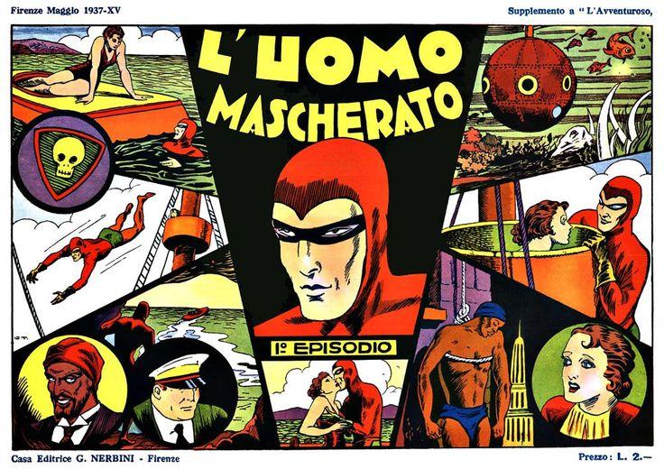 """L'Uomo Mascherato"" (The Phantom, 1937) #LeeFalk #ThePhantom #Nerbini"